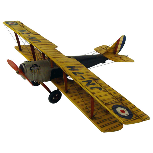 Repro Tin Plate Yellow Curtis Jenny Plane