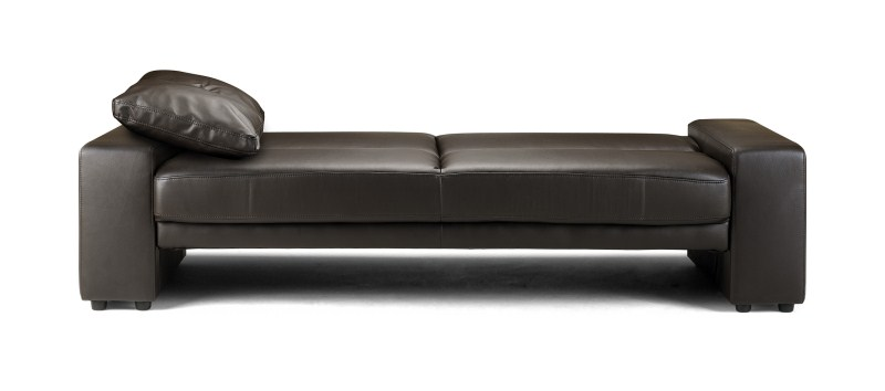 Supra Black or Brown Faux Leather Sofa Bed