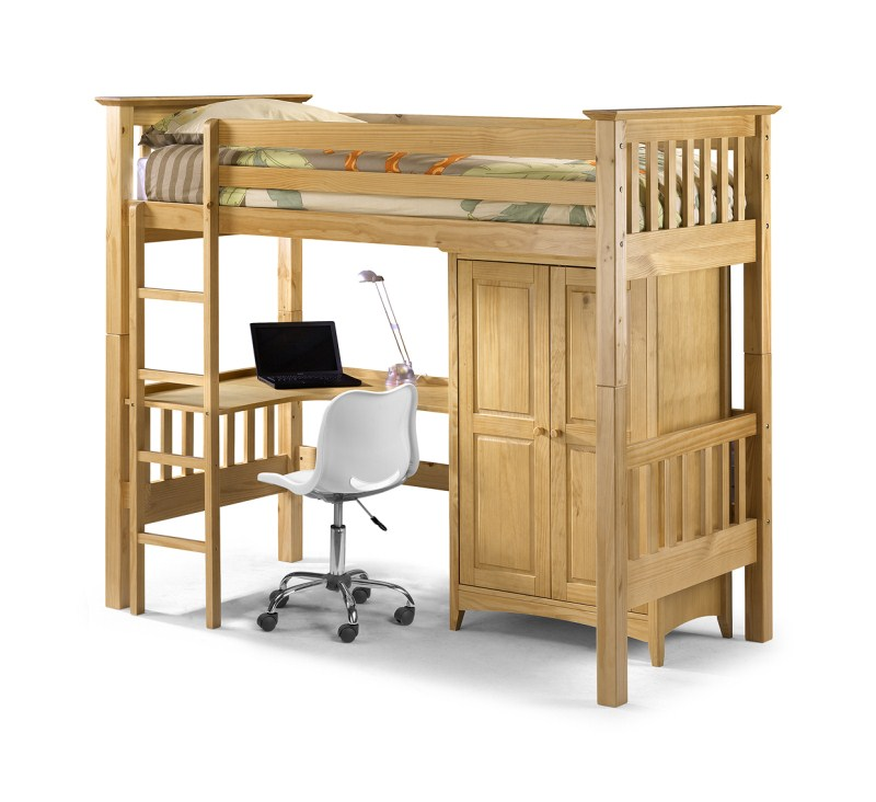 Barcelona Style High Sleeper Bedsitter Bunk