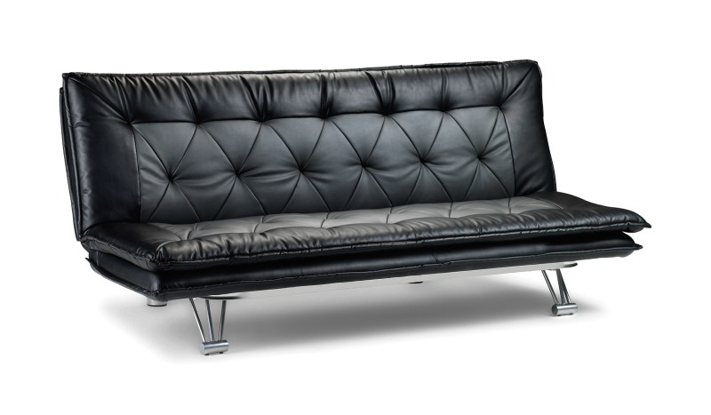 Elan Slate/Grey Two Tone Faux Leather Sofa Bed