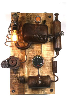 Steampunk Parts Wall Lamp Feature