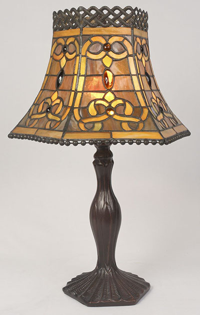 Tiffany Brown Open Top Lamp