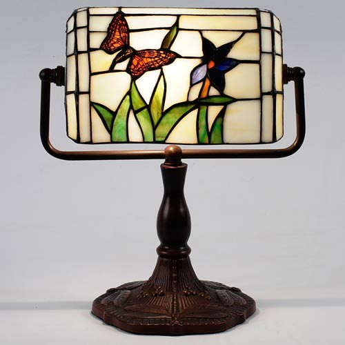Tiffany Butterfly Bankers Lamp