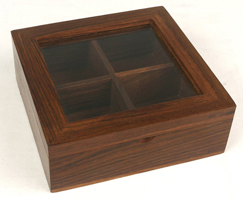 Wooden Box With Glass Lid